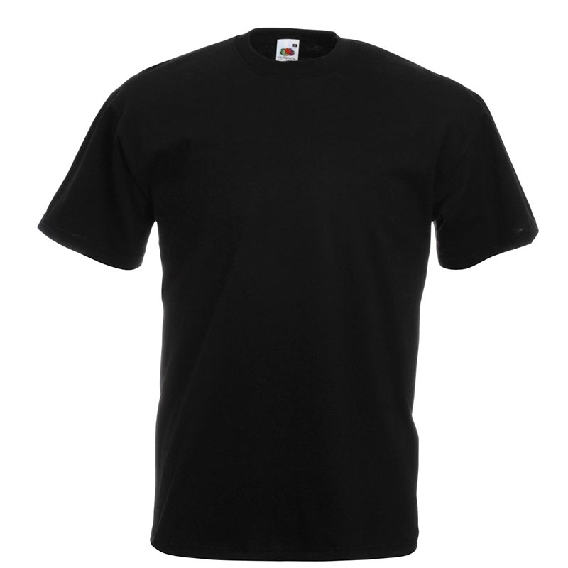 165gsm 100% Cotton, Belcoro® Yarn Valueweight T Short Sleeve - STVA-black