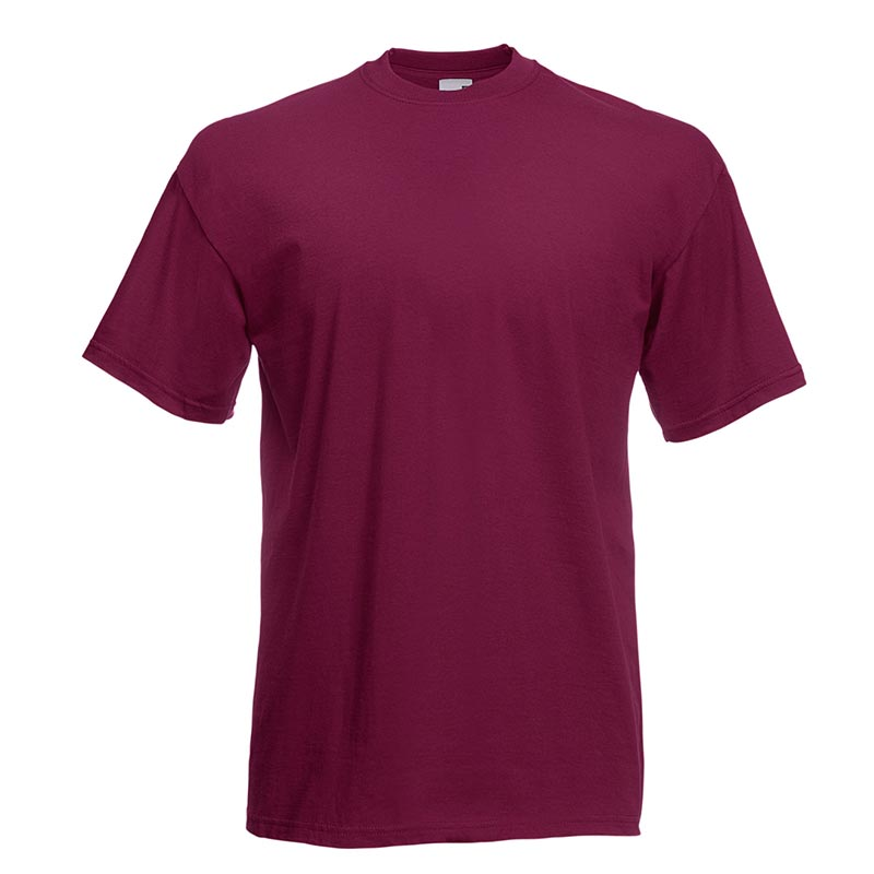 165gsm 100% Cotton, Belcoro® Yarn Valueweight T Short Sleeve - STVA-burgundy