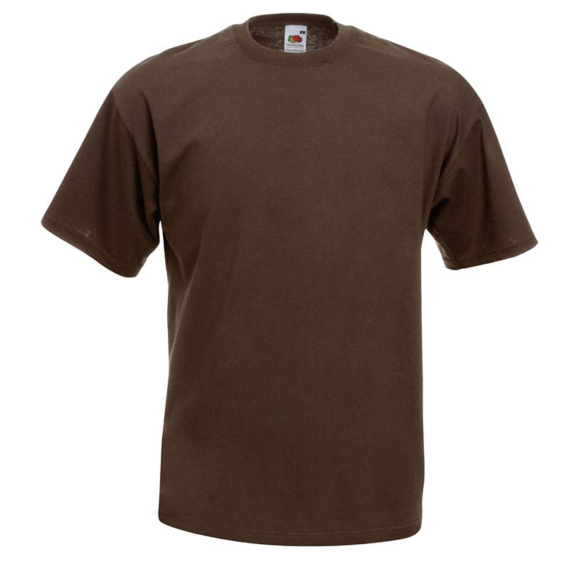 165gsm 100% Cotton, Belcoro® Yarn Valueweight T Short Sleeve - STVA-chocolate