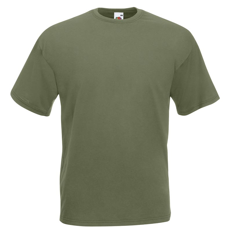 165gsm 100% Cotton, Belcoro® Yarn Valueweight T Short Sleeve - STVA-classic-olive
