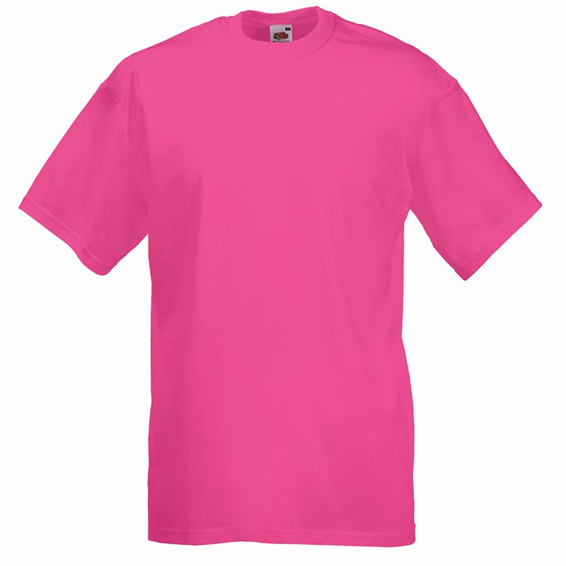 165gsm 100% Cotton, Belcoro® Yarn Valueweight T Short Sleeve - STVA-fuchsia