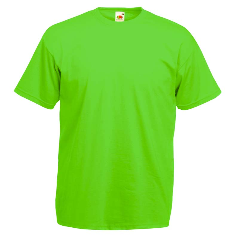 165gsm 100% Cotton, Belcoro® Yarn Valueweight T Short Sleeve - STVA-lime