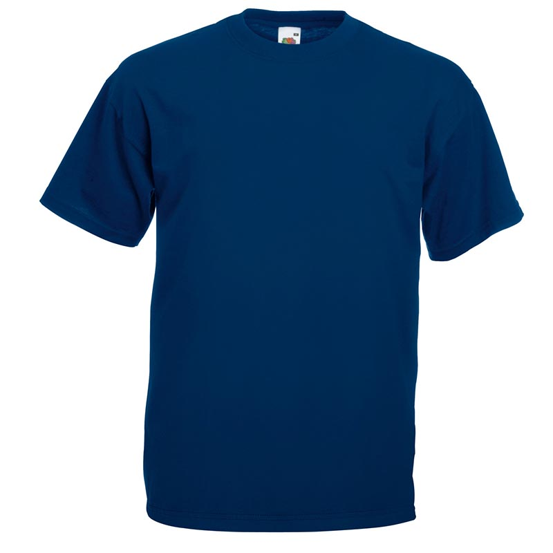 165gsm 100% Cotton, Belcoro® Yarn Valueweight T Short Sleeve - STVA-navy