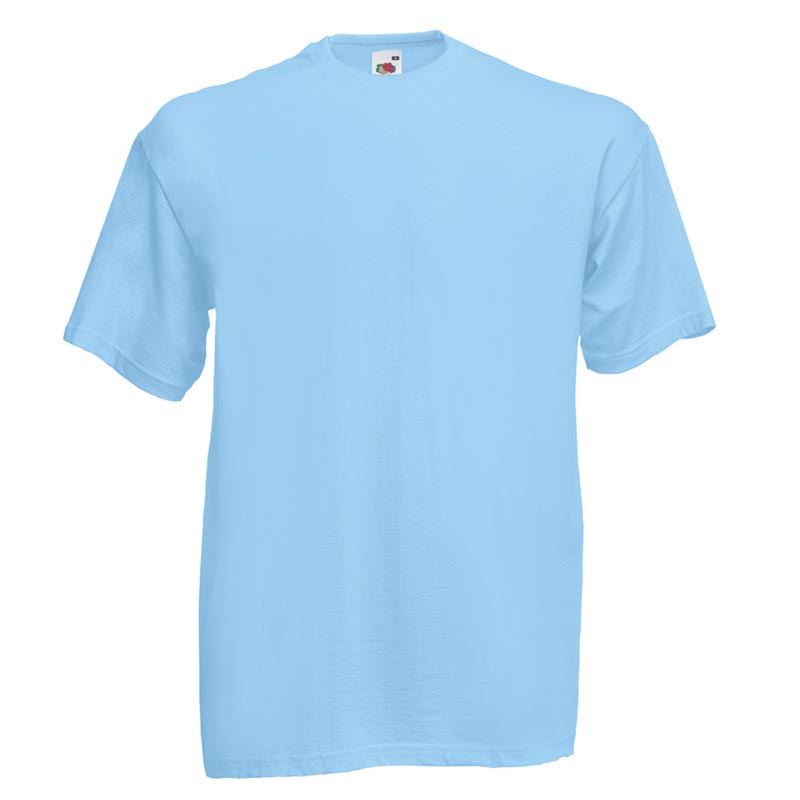 165gsm 100% Cotton, Belcoro® Yarn Valueweight T Short Sleeve - STVA-sky-blue