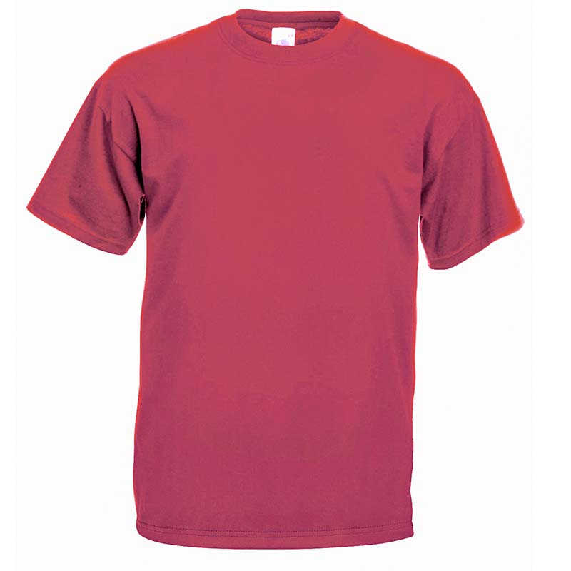 165gsm 100% Cotton, Belcoro® Yarn Valueweight T Short Sleeve - STVA-vintage-heather-red