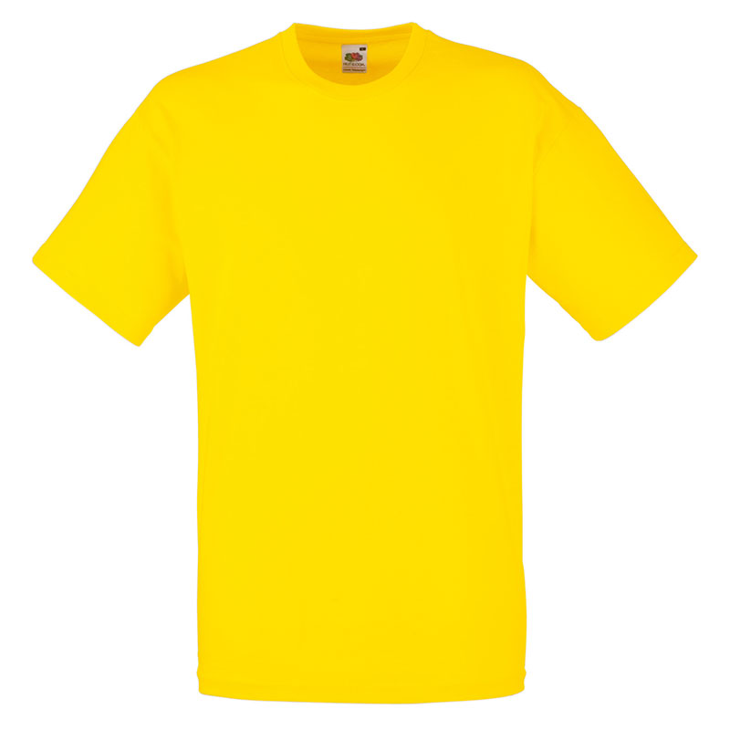 165gsm 100% Cotton, Belcoro® Yarn Valueweight T Short Sleeve - STVA-yellow