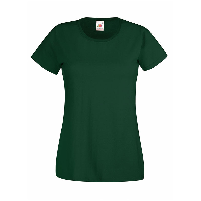 165gsm 100% Cotton, Belcoro® Yarn Lady-Fit Valueweight Crew Neck T Short Sleeve -STVL-bottle-green