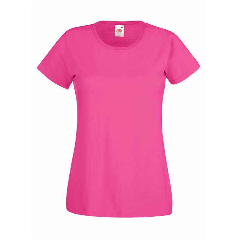165gsm 100% Cotton, Belcoro® Yarn Lady-Fit Valueweight Crew Neck T Short Sleeve -STVL-fuchsia