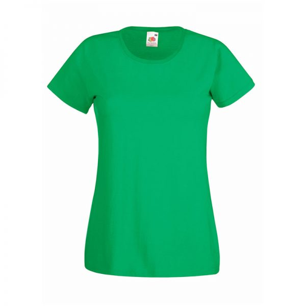 165gsm 100% Cotton, Belcoro® Yarn Lady-Fit Valueweight Crew Neck T Short Sleeve -STVL-kelly-green