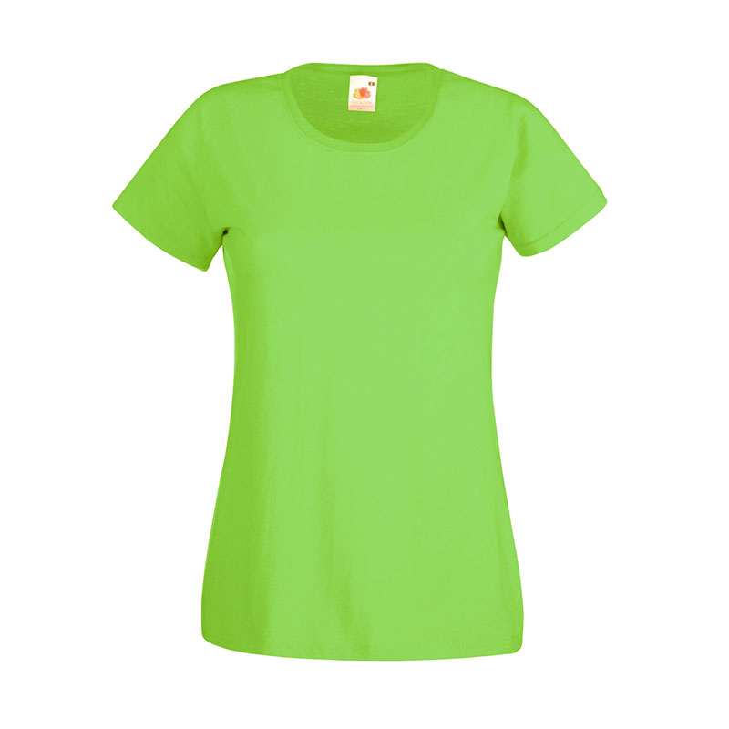 165gsm 100% Cotton, Belcoro® Yarn Lady-Fit Valueweight Crew Neck T Short Sleeve -STVL-lime