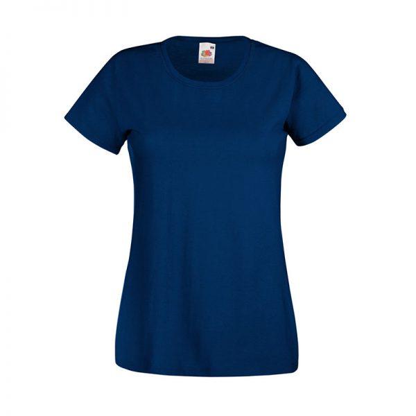 165gsm 100% Cotton, Belcoro® Yarn Lady-Fit Valueweight Crew Neck T Short Sleeve -STVL-navy