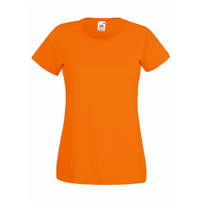 165gsm 100% Cotton, Belcoro® Yarn Lady-Fit Valueweight Crew Neck T Short Sleeve -STVL-orange