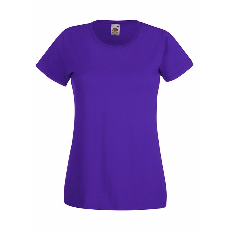 165gsm 100% Cotton, Belcoro® Yarn Lady-Fit Valueweight Crew Neck T Short Sleeve -STVL-purple