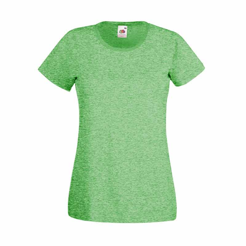 165gsm 100% Cotton, Belcoro® Yarn Lady-Fit Valueweight Crew Neck T Short Sleeve -STVL-retro-heathr-green
