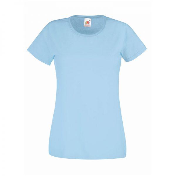 165gsm 100% Cotton, Belcoro® Yarn Lady-Fit Valueweight Crew Neck T Short Sleeve -STVL-sky-blue