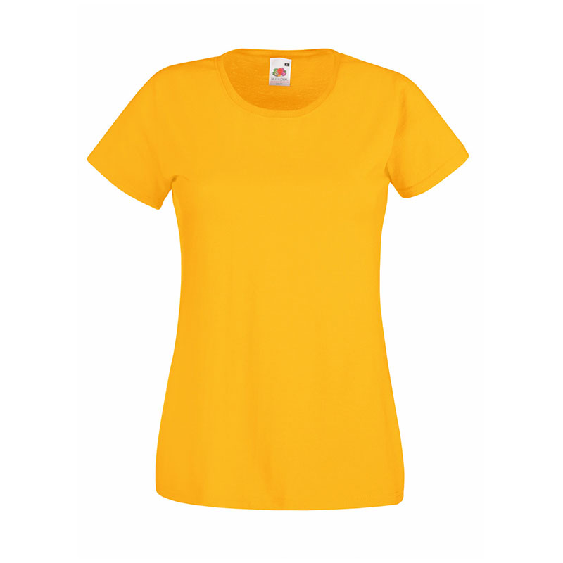 165gsm 100% Cotton, Belcoro® Yarn Lady-Fit Valueweight Crew Neck T Short Sleeve -STVL-sunflower