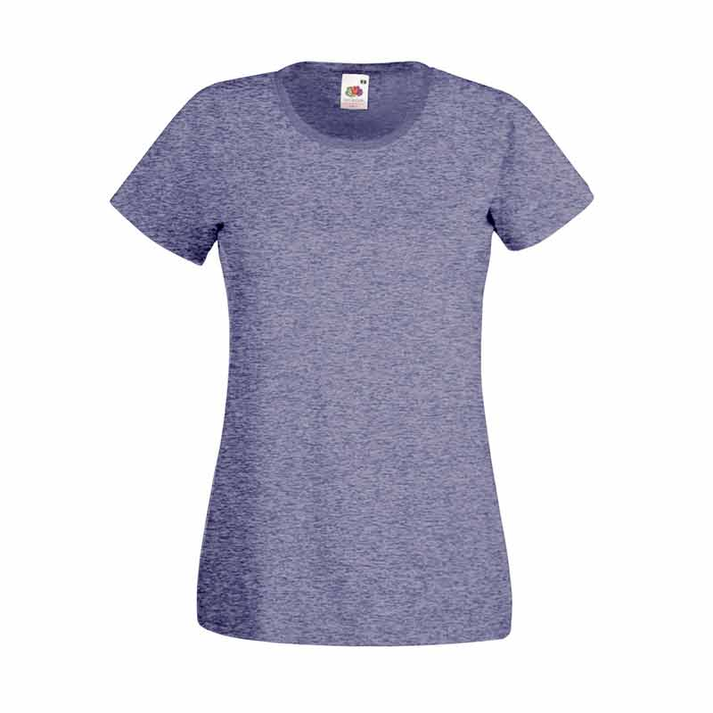 165gsm 100% Cotton, Belcoro® Yarn Lady-Fit Valueweight Crew Neck T Short Sleeve -STVL-vintage-heathr-navy