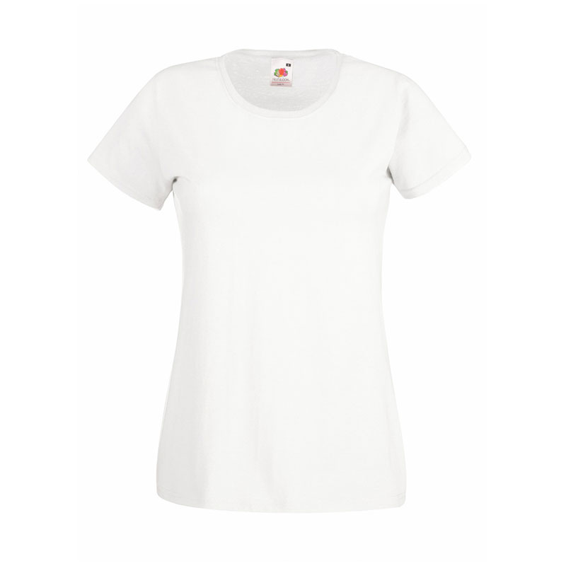 165gsm 100% Cotton, Belcoro® Yarn Lady-Fit Valueweight Crew Neck T Short Sleeve -STVL-white