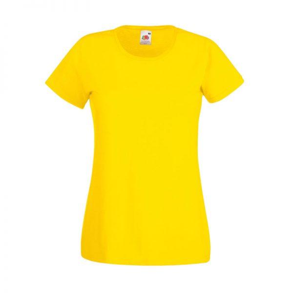 165gsm 100% Cotton, Belcoro® Yarn Lady-Fit Valueweight Crew Neck T Short Sleeve -STVL-yellow