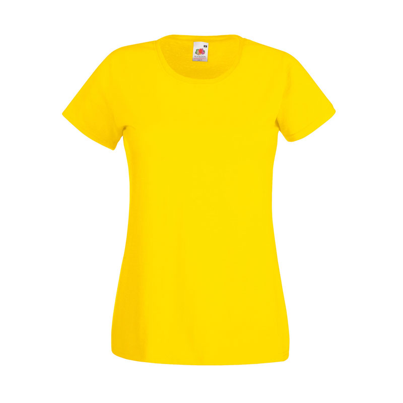 165gsm 100% Cotton, Belcoro® Yarn Lady-Fit Valueweight Crew Neck T Short Sleeve -STVL-yellow