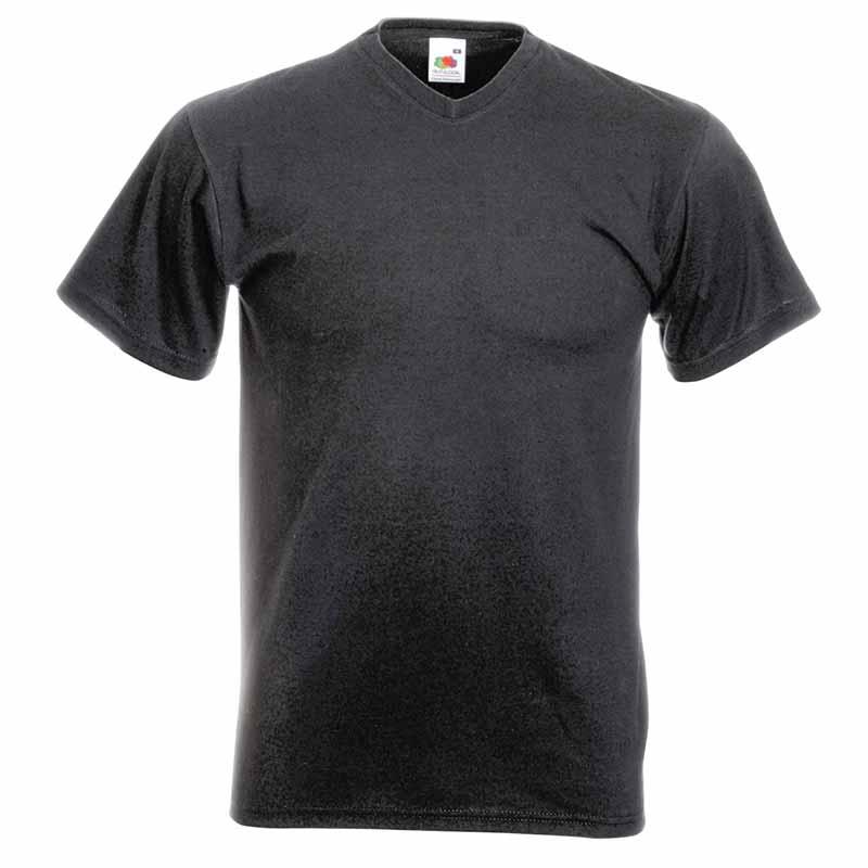165g 100% Cotton, Belcoro® Valueweight V-neck T Short Sleeve - STVNA-dark-heather-grey