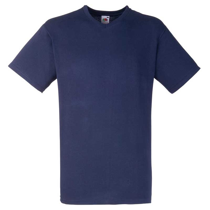 165g 100% Cotton, Belcoro® Valueweight V-neck T Short Sleeve - STVNA-deep-navy
