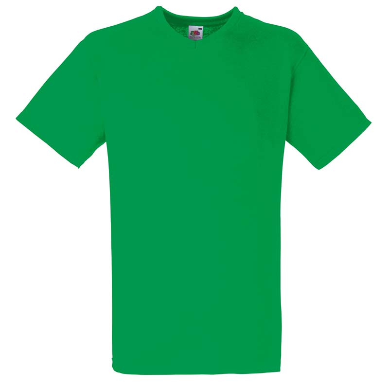 165g 100% Cotton, Belcoro® Valueweight V-neck T Short Sleeve - STVNA-kelly-green