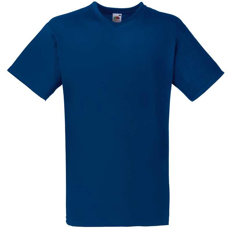 165g 100% Cotton, Belcoro® Valueweight V-neck T Short Sleeve - STVNA-navy