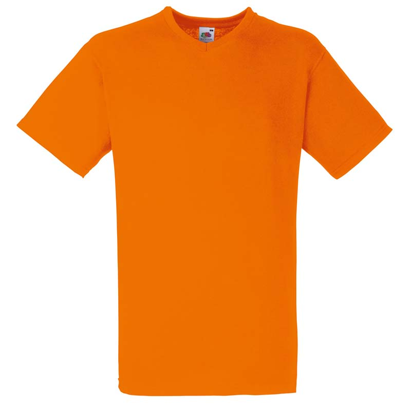 165g 100% Cotton, Belcoro® Valueweight V-neck T Short Sleeve - STVNA-orange