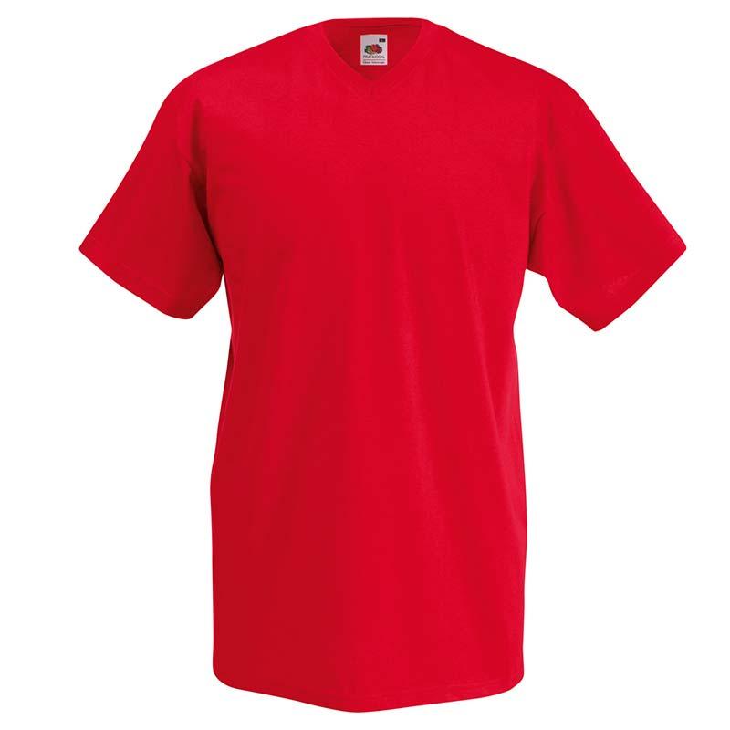 165g 100% Cotton, Belcoro® Valueweight V-neck T Short Sleeve - STVNA-red
