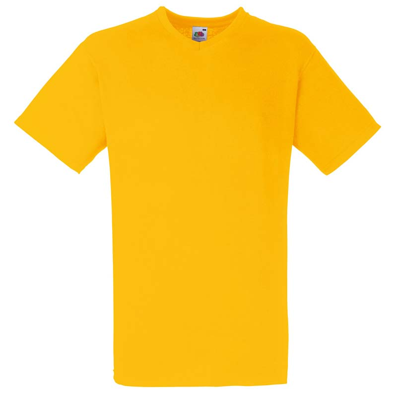 165g 100% Cotton, Belcoro® Valueweight V-neck T Short Sleeve - STVNA-sunflower