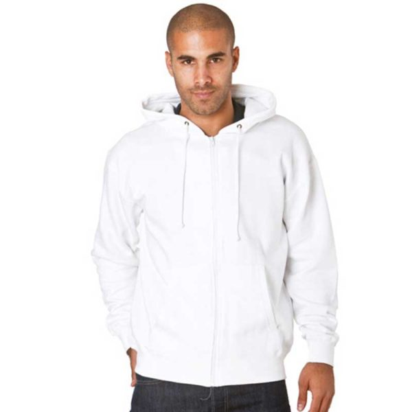 Hooded Full-Zip Set-In Sweats TSA05-white