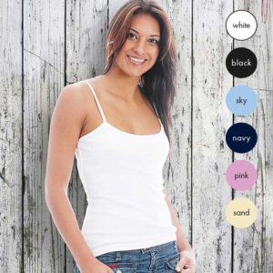 95% Supercarded Ringspun Cotton / 5% Elastane Lady-Fit Strap T TTL03