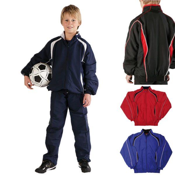 Kids Contrast Track-Suit Top & Bottoms TTSK02