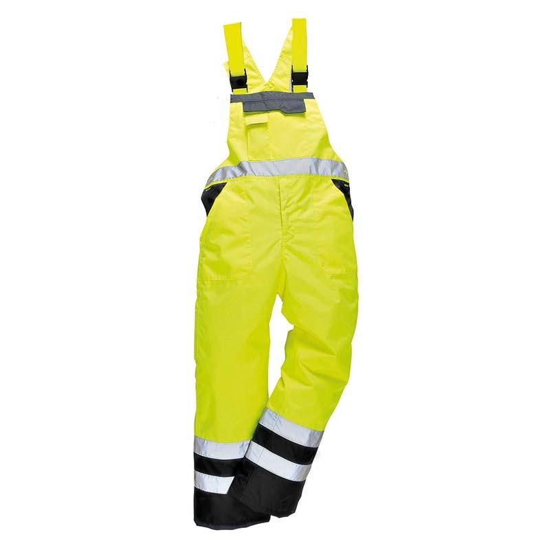 Contrast Bib & Brace - Waterproof, Unlined - WBBA488-yellow-black