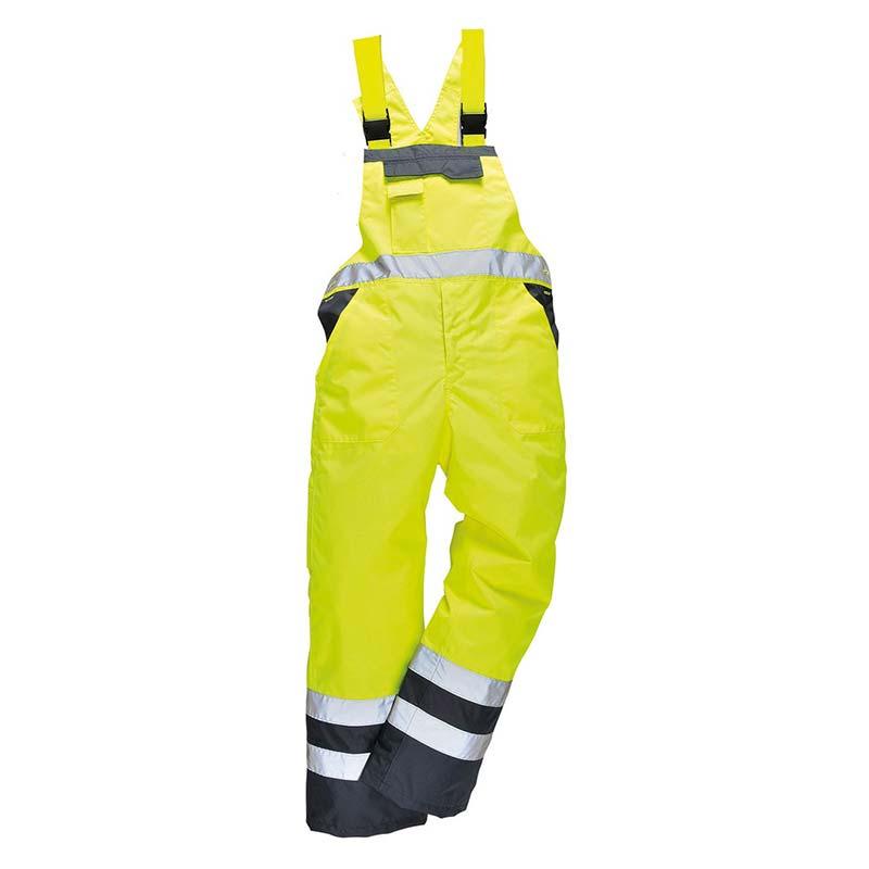 Contrast Bib & Brace - Waterproof, Unlined - WBBA488-yellow-navy