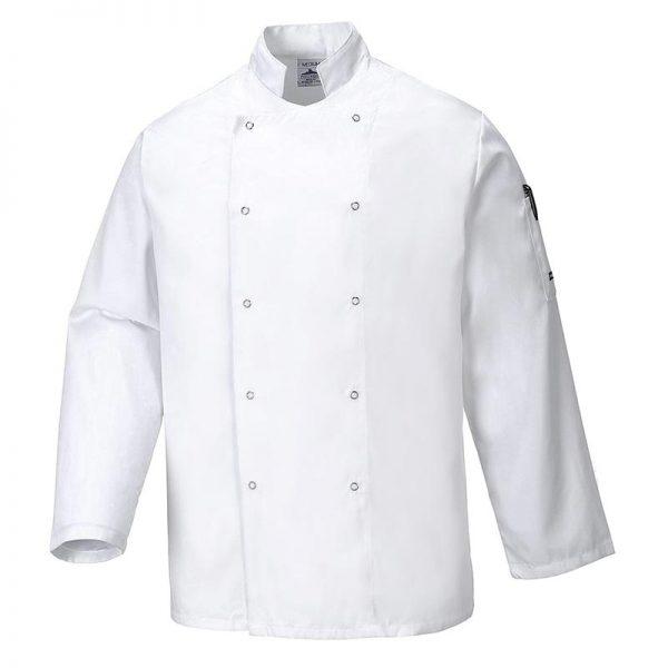 190g 65/35 PC Suffolk Chefs Jacket - WCJA833-white