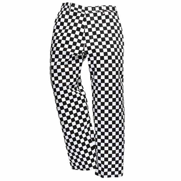 190g 65/35 PC 'Harrow' Chefs Trousers Regular - WCTRA068-black