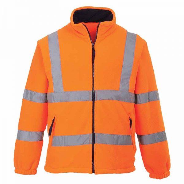 190g Hi-Vis Mesh Lined Fleece WFA300 - WFA300-orange