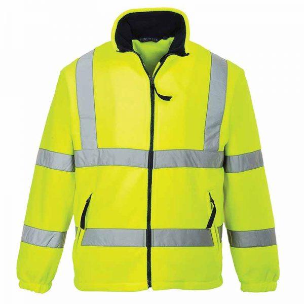 190g Hi-Vis Mesh Lined Fleece WFA300 - WFA300-yellow