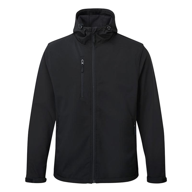 'HOLKHAM' Hooded Softshell Jacket - WJAA234-black