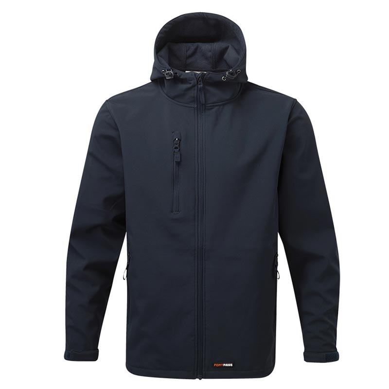 'HOLKHAM' Hooded Softshell Jacket - WJAA234-navy
