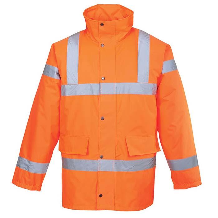 190g Hi-Vis Traffic Waterproof Jacket - WJAA460-orange