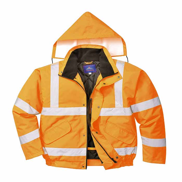 190g Hi-Vis Bomber Waterproof Jacket WJAA463 - WJAA463-orange