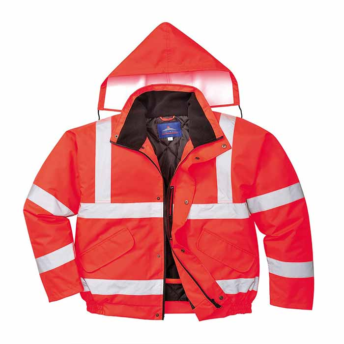 190g Hi-Vis Bomber Waterproof Jacket - WJAA463-red