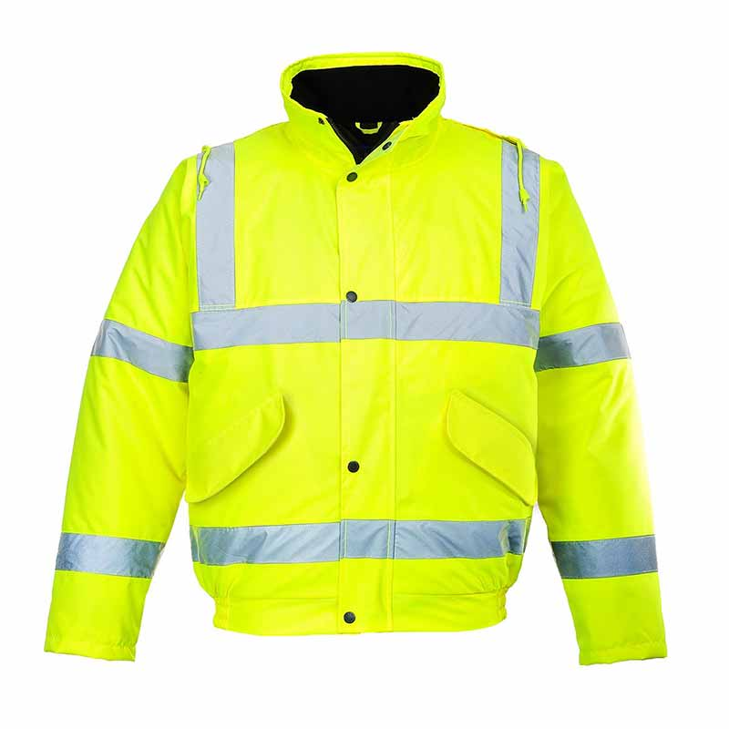 190g Hi-Vis Bomber Waterproof Jacket - WJAA463-yellow