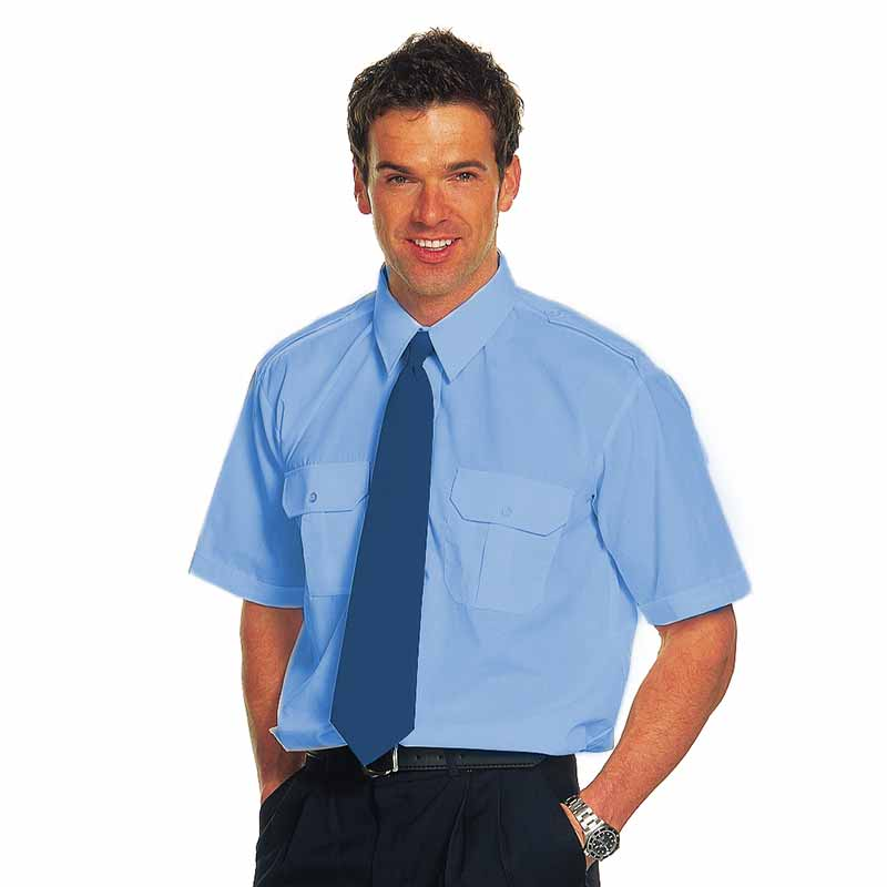 110gsm 65/35 PC PILOT Shirt Short-Sleeve - WSHA04-sky