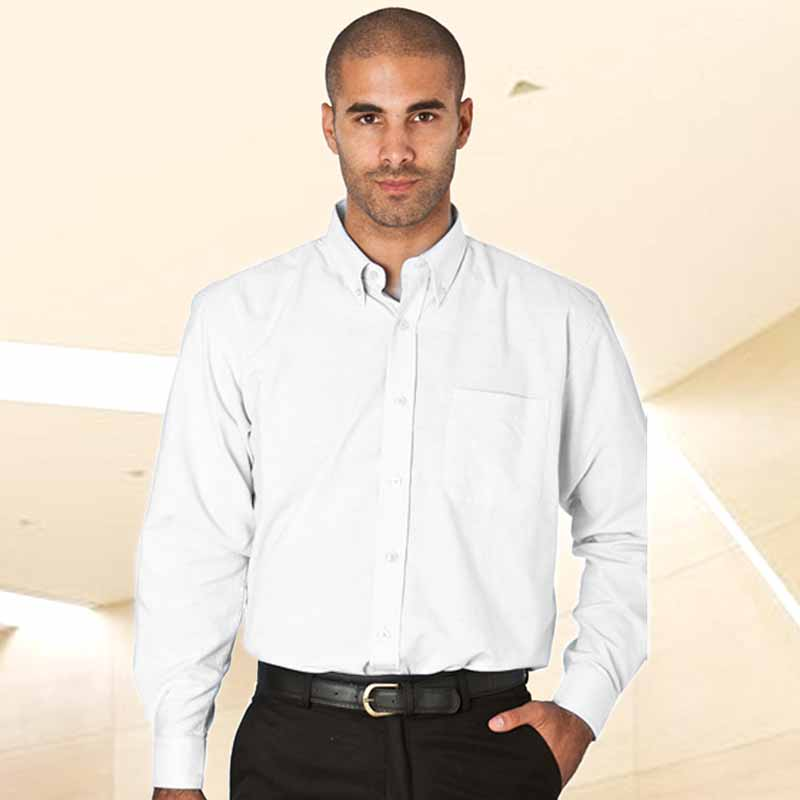 135gsm 70/30 CP Oxford Shirt Short Sleeve -WSHA05-white