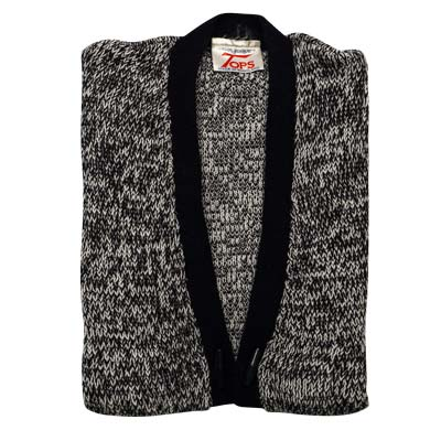 100% Acrylic Marl Waist Coat 2 Toggle Sleeveless - VCAA80-black
