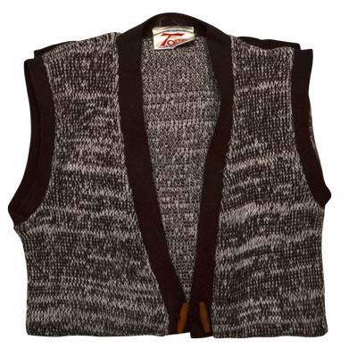 100% Acrylic Marl Waist Coat 2 Toggle Sleeveless - VCAA80-brown